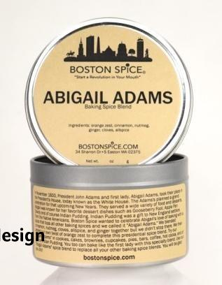 Abigail Adams - Baking Spice - Approx 1 cup in a sliptop metal tin