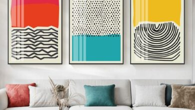 "Abstract RYB Canvas Prints - 24""x36"" (60x90cm) / Set of 3"
