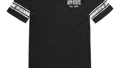 Appalachian App State University Mountaineers Womens Practice Tee T-Shirt Black - Large