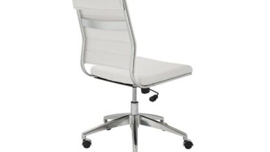 Axel Low Back Office Chair Armless in White