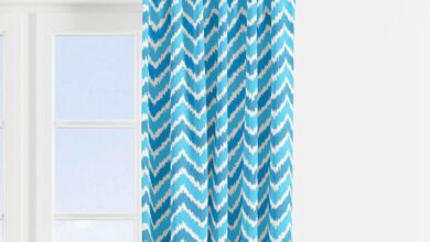 Bacati - Mix N Match Aqua/Turquoise Chevron Dots Window Treatments Curtain Panel/Valance Sold Individually (Multiple Prints to choose from) - Chevron Print