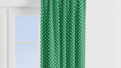 Bacati - Mix N Match Navy/Green Chevron Dots Window Treatments Curtain Panel/Valance Sold Individually (Multiple Prints to choose from) - Green Pin Dots Print