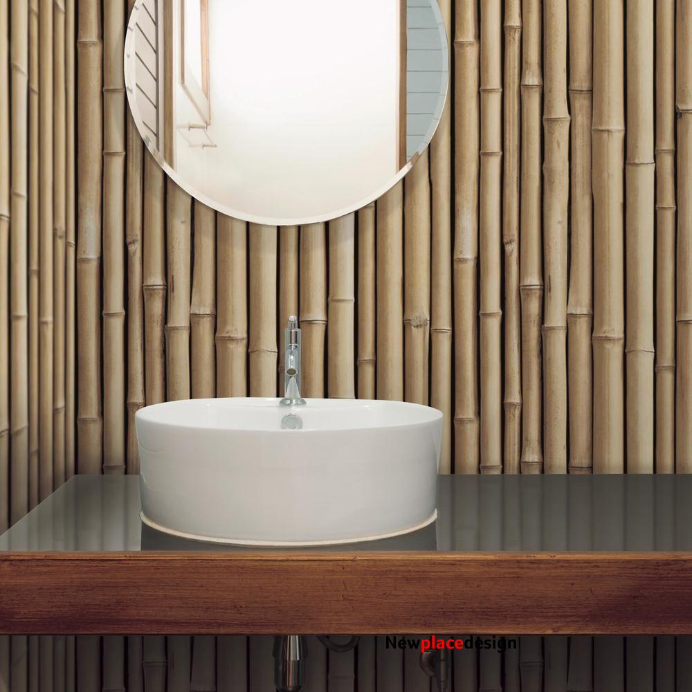 Bamboo Peel and Stick Wallpaper - Roll / Tan