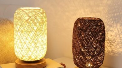 Baroque Table Lamp - Brown