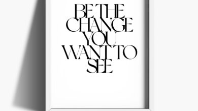 Be The Change Print - A4 / White Frame