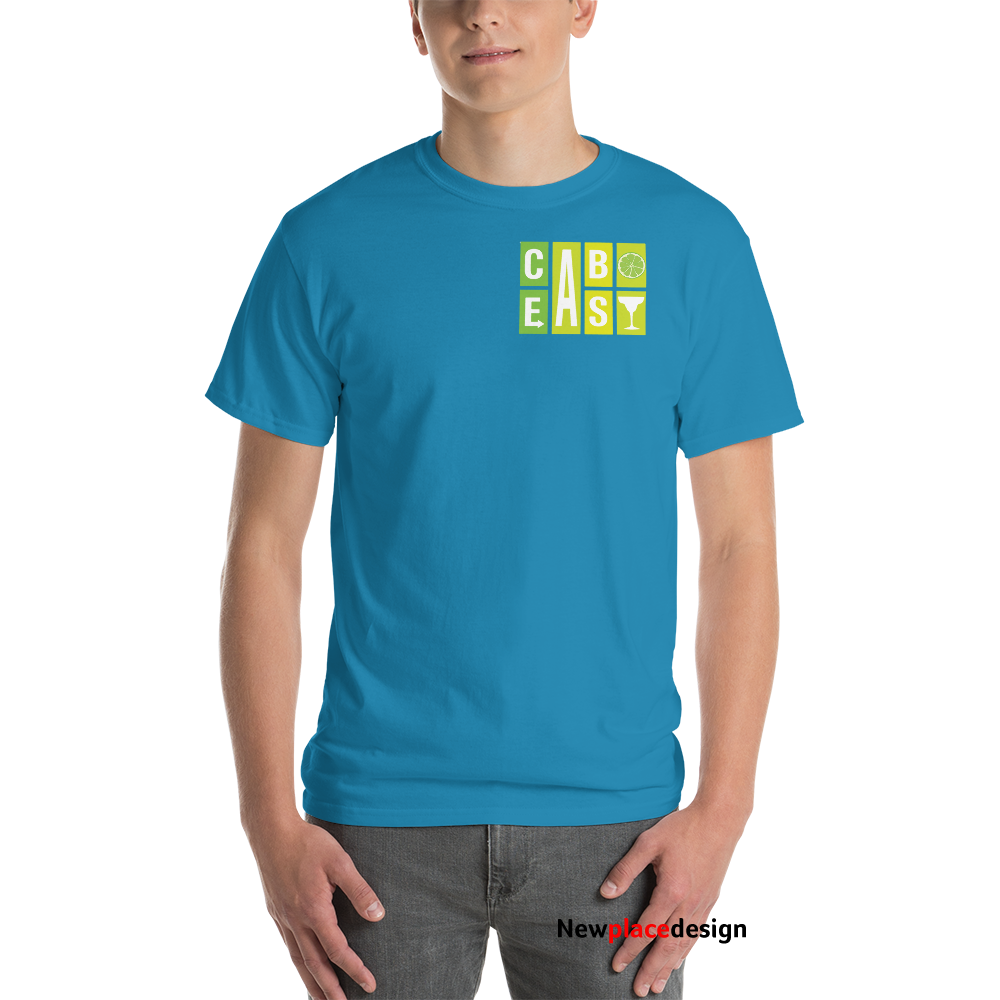 Cabo Easy Logo Two Sided T-Shirt - Sapphire / L