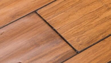 Cali Bamboo Fossilized 5-5/16-in Wide x 9/16-in Thick Bamboo Distressed Mocha Distressed Engineered Hardwood Flooring (21.5-sq ft) in Bronze