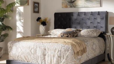 Candace Glam Wood Bed - Charcoal / King