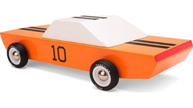 Candylab GT10 Racer Wooden Toy | Orange - Default Title