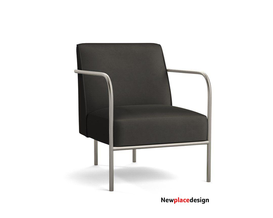 Capital Chair - Charcoal Endurance Velvet / Brushed Steel