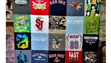 Classic T-Shirt Blanket - Full 30 panel 5x6 layout / 14 large graphics between 11.5 and 13.5 (requires 15 of material) / Blue