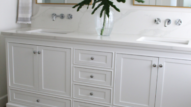 Coastal Chic Bathroom Vanity and Fixtures Reveal — House Full of Summer - Coastal Home & Lifestyle