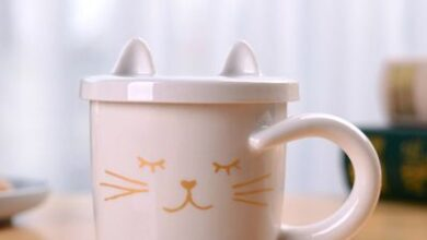 Coffee Cat Cup incl. lid - White 2