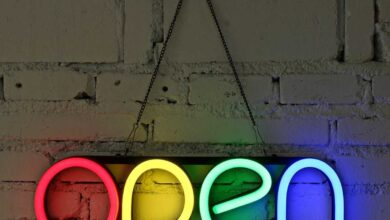 Colorful Neon Open Sign