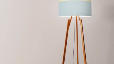 Colour lines drum lampshade 45cm (18) - Floor, table + Washer