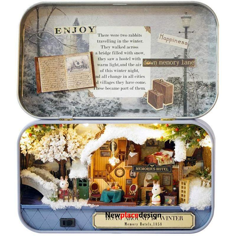 Comfortable 3D Miniature Dollhouse With Light DIY Toys - ROAM AROUND IN WINTER