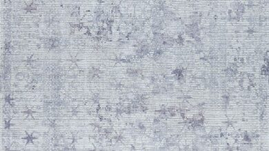 Contemporary Modern Abstract Star Shah Terni Grey Area Rug Carpet - 5' x 8' / Grey/Grey / MAT Shah Terni Grey/Grey