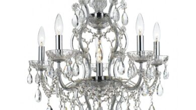 Crystorama 4455-CH-CL-MWP Filmore Six Light Chandelier