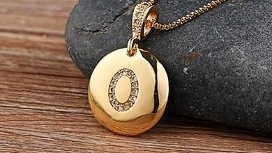 Custom Letter Necklace Pendant - O