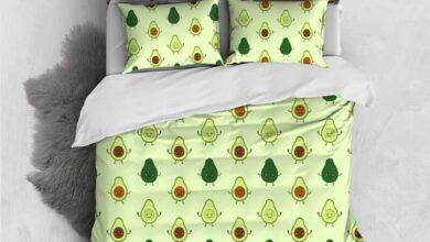 Custom Personalised 3 Pieces Duvet Cover Set - Avocado Pattern Comforter Cover - Queen