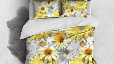 Custom Personalised 3 Pieces Duvet Cover Set - Small Sunflowers Pattern Comforter Cover - Queen