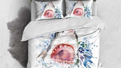 Customizable 3 Pieces Duvet Cover Set -Shark - Twin
