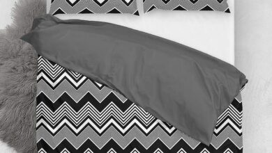 Customizable Classic Microfiber Duvet Cover Set, Chevron Wave - Queen