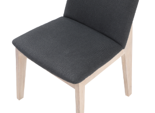 DECO OAK DINING CHAIR DARK GREY M2