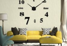 DIY Creative 3D Wall Clock Acrylic Decorative Kitchen Wall Clocks Living Room Dining Room Home Decor wallclock - J
