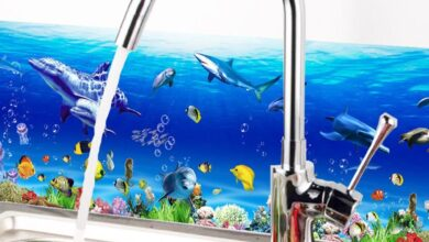 DIY Removable Modern Sea World Theme Wall Sticker Bathroom Decal Art Home Decor - as the picture ah