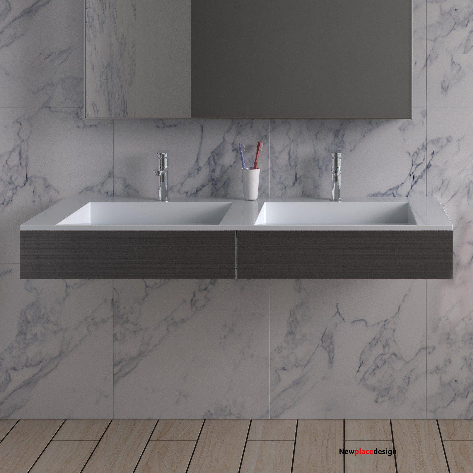 DW-112 (47 x 20) - Matte White Top - Stainless Steel Panels