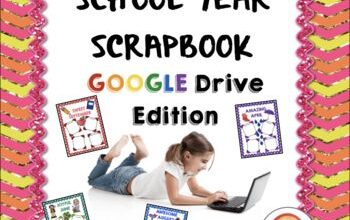 Distance Learning School Year Scrapbook Portfolio GOOGLE Drive Edition