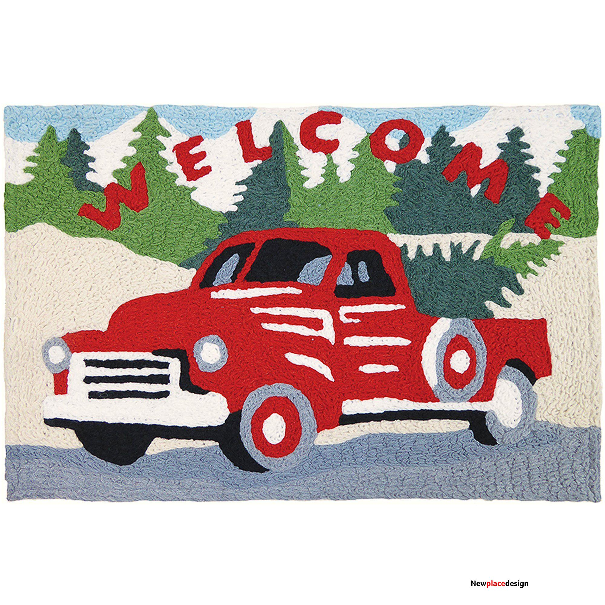 """Drivin' the Tree Home 20"""" X 30"""" Accent Rug"""