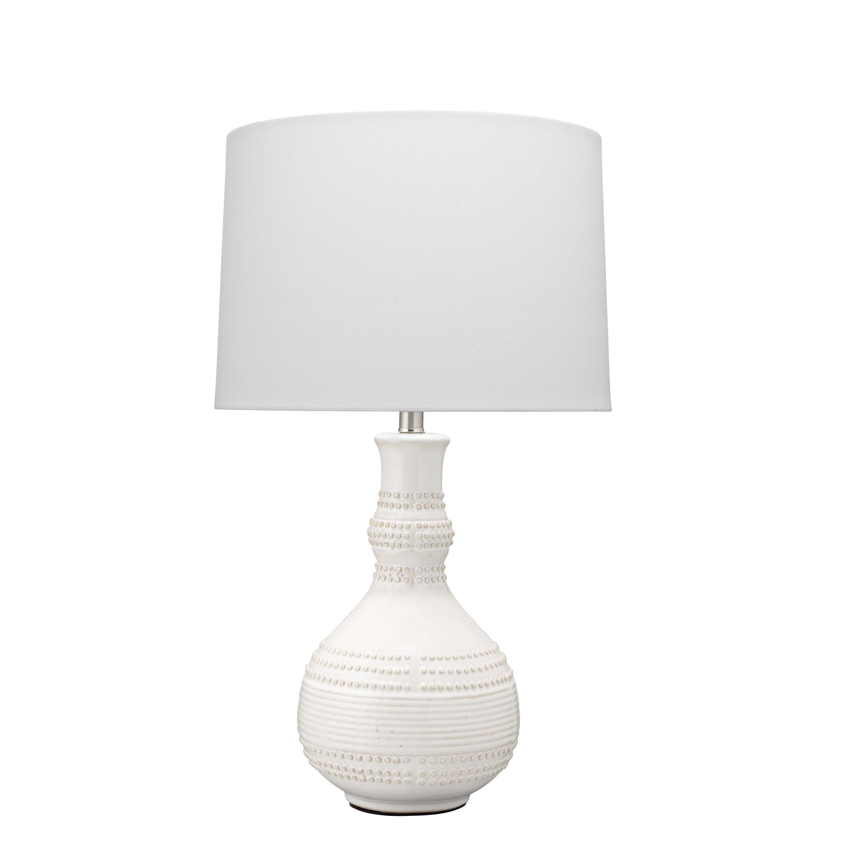 Droplet Table Lamp in White Ceramic