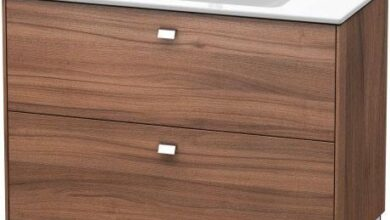Duravit Brioso Floorstanding 2 pull-out compartments Vanity Unit for ME by Starck Basin - 1220 x 479mm / M79 Natural Walnut
