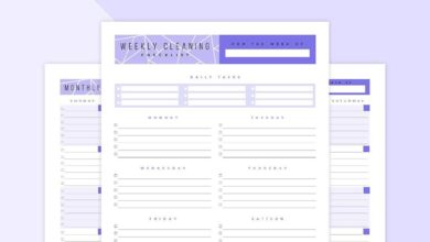 Editable Cleaning Checklist Printable Set - Pink