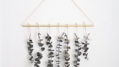 Eucalyptus Wall Hanging Kit - brass