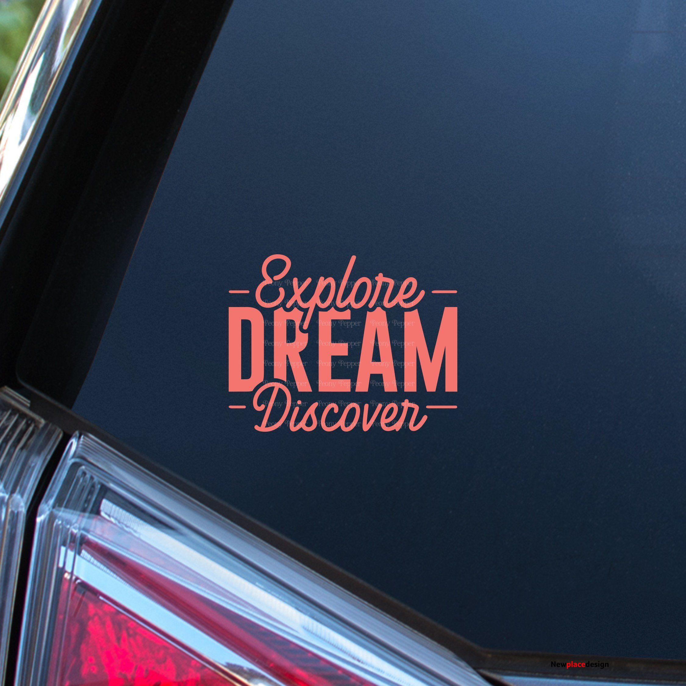 Explore Dream Discover Decal - 5 - Rose Gold / Glossy