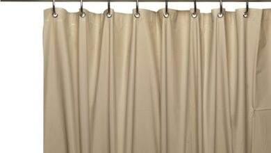 Extra Long Shower Curtain Liner with Metal Grommets and Waterproof Feature - Linen