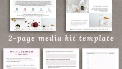 FREE Canva Templates! 2-Page Media Kit & 3-Page Workbook Templates, for FREE!