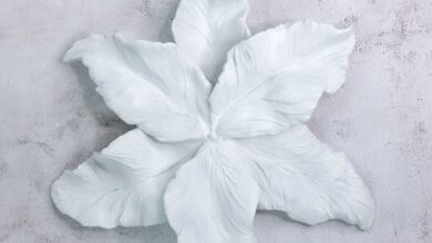 Fantasy Flower Wall Decor in White ( + more colors)