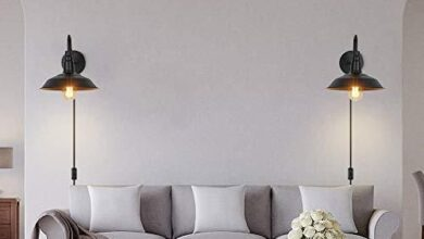 Farmhouse Wall Sconces with Plug in Cord and Button Switch