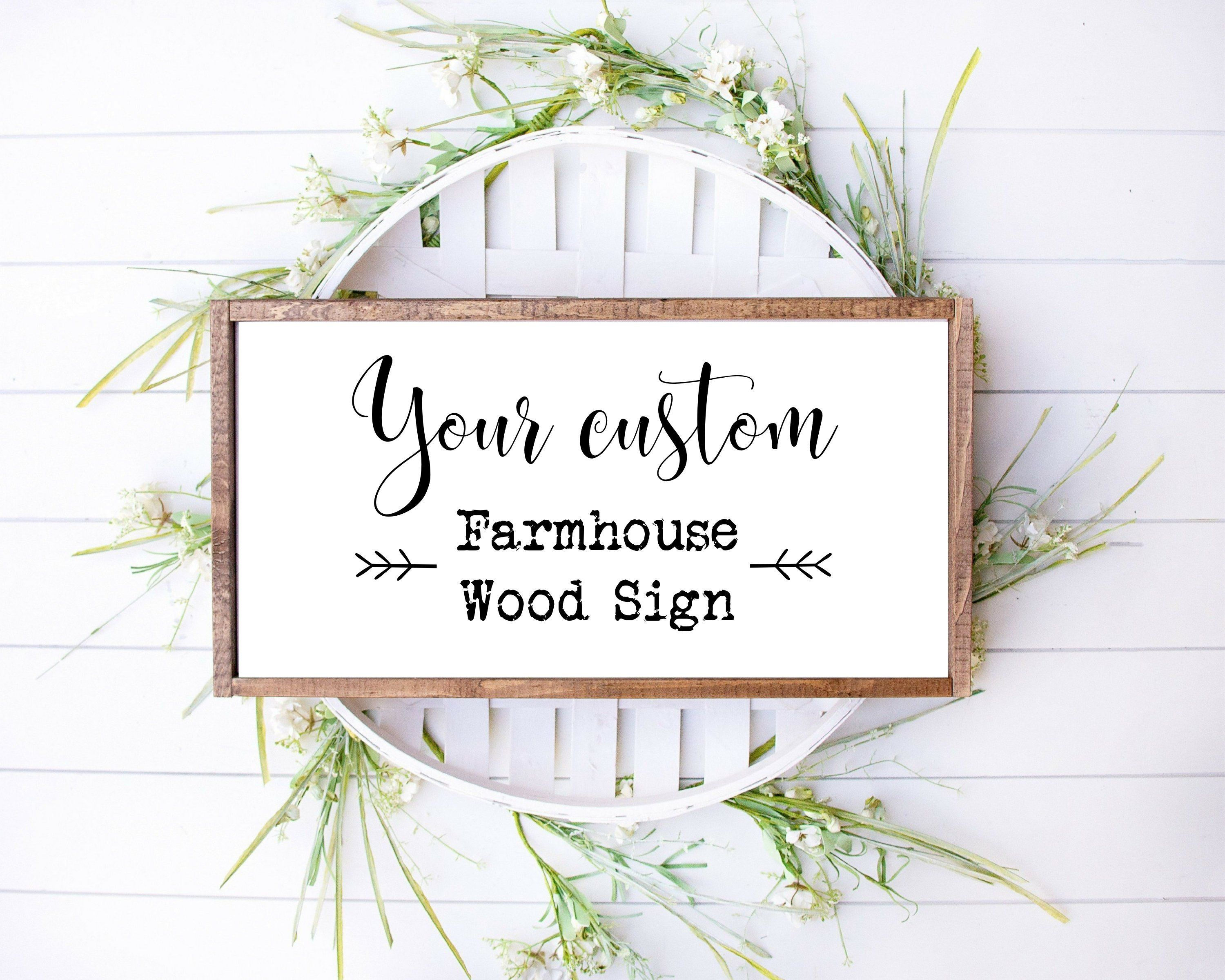 Farmhouse Wood Signs for bedroom, kitchen, living room decor - 6x6