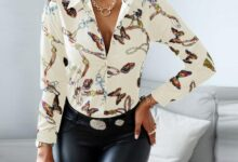Female Clothes Vintage Long Sleeve Colorful Print Blouse Women Spring Fashion 2021 Office Lady Shirt Slim Office Lady Shirt Tops - A / S