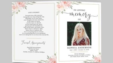 Funeral Program Template, TRY BEFORE You BUY, Celebration of Life, Obituary Card, Funeral Prayer Car