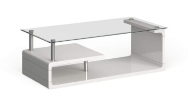 Furniture of America Rost Contemporary White Metal Coffee Table - White
