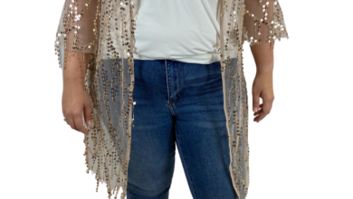 Gabor Sister's Sequin Duster - L