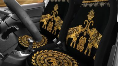 Golden Mandala Car Seat Covers - Car Seat Covers(2 Included) / Universal Fit