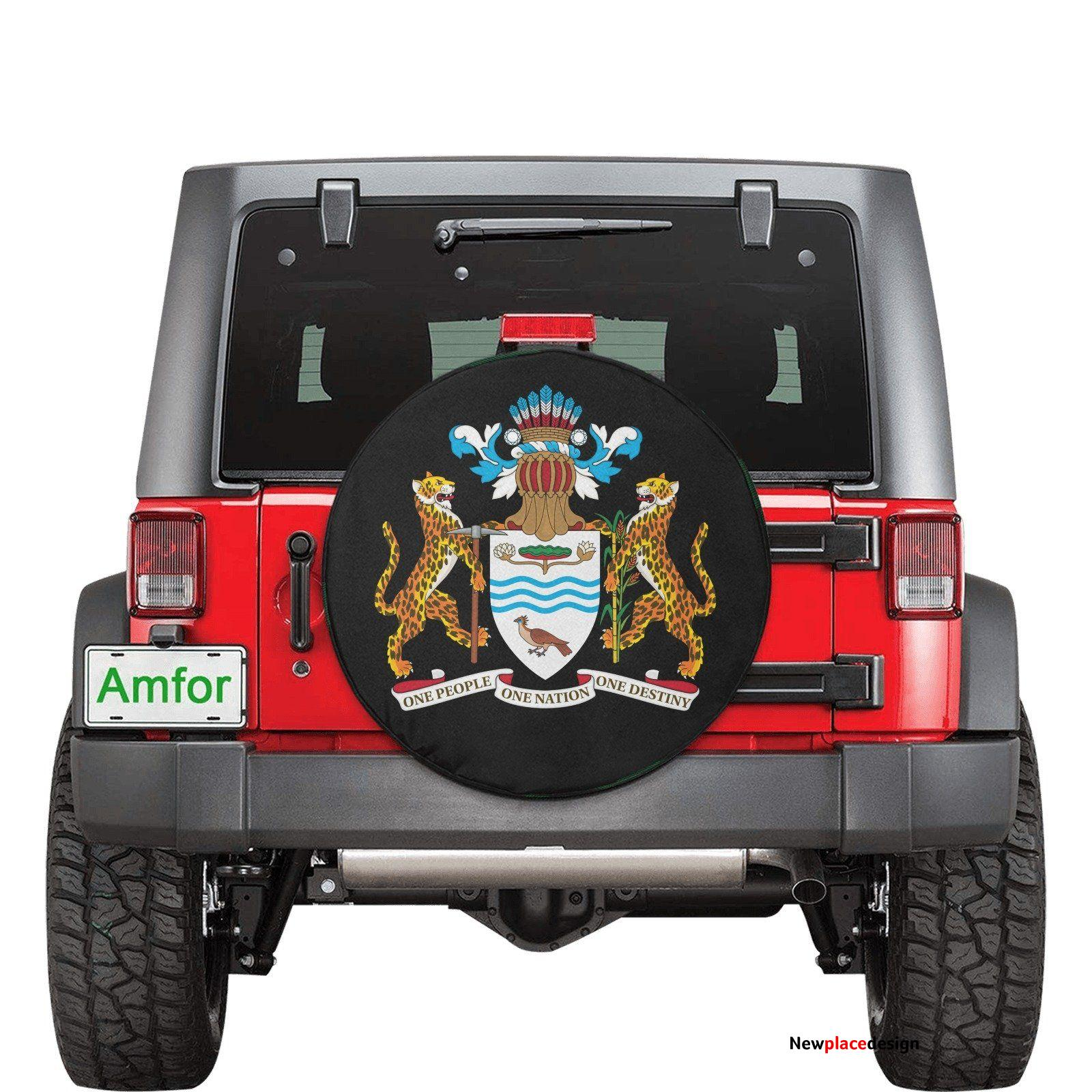 Guyana Coat of Arms Guyanese Swag Spare Tire Cover(Small)(15) - One Size