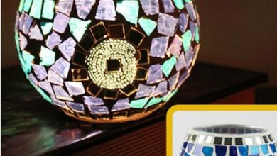Handmade Mosaic Glass Candle Holder - B